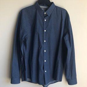 Vince blue long sleeve button down dress shirt
